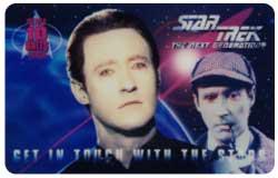The Star Trek: The Next Generation Sherlockian Phone Card