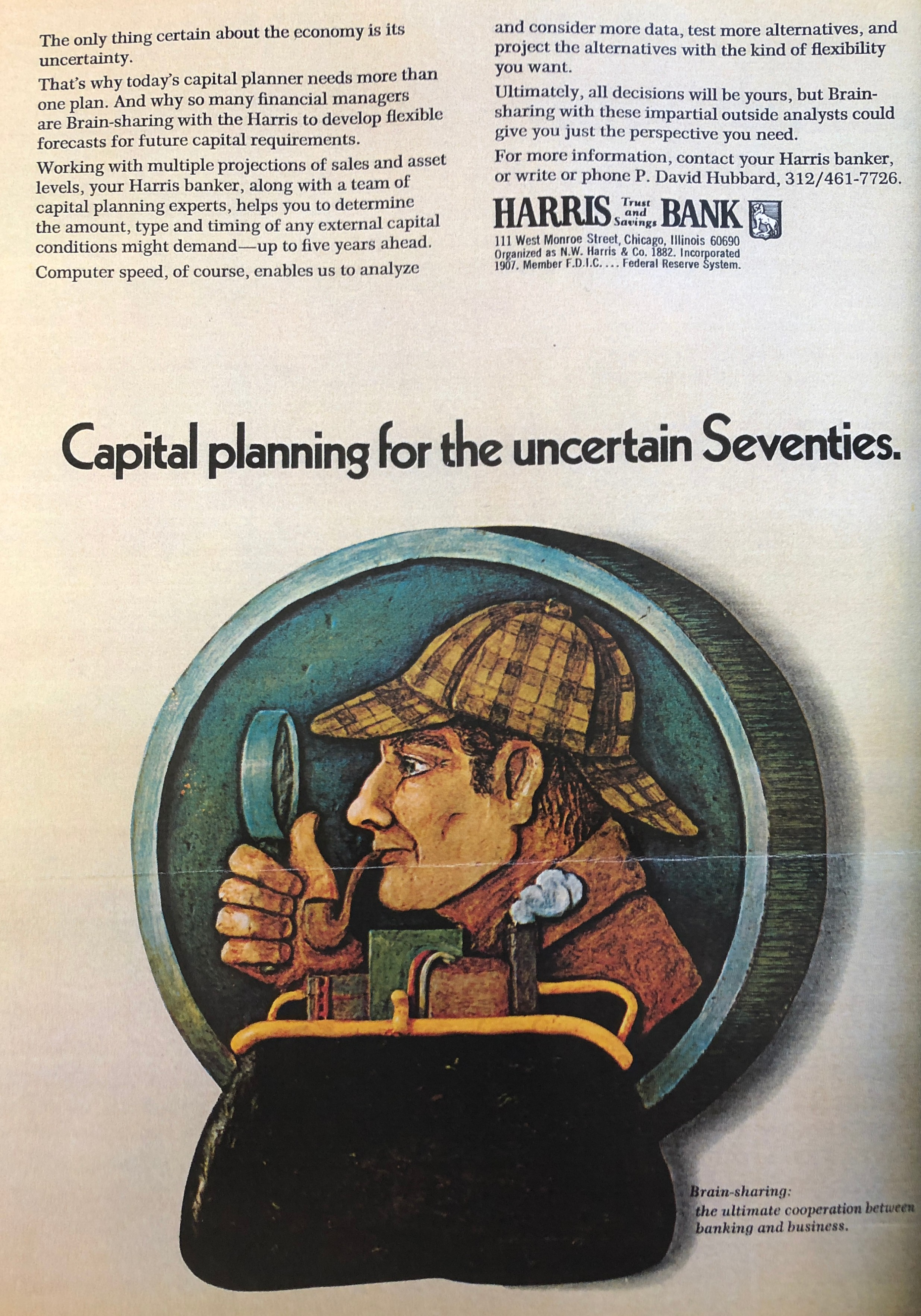 """A Sherlockian """"Coin"""" From a 1973 Forbes Magazine Advertisement"""