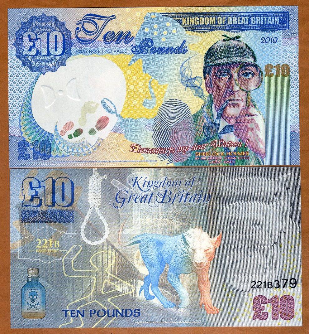 The 2019 Fantasy Kingdom of Great Britain 10 Pound Banknote