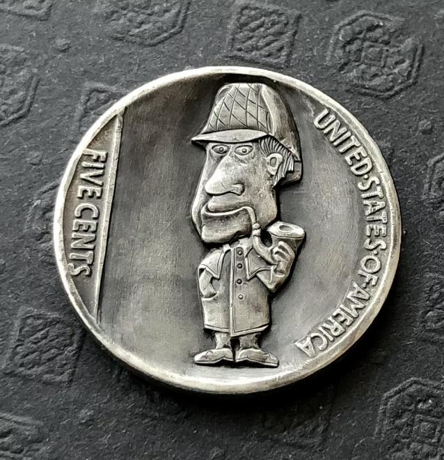 Rima Gedvile's Mini-Sherlock Holmes Hobo Nickel