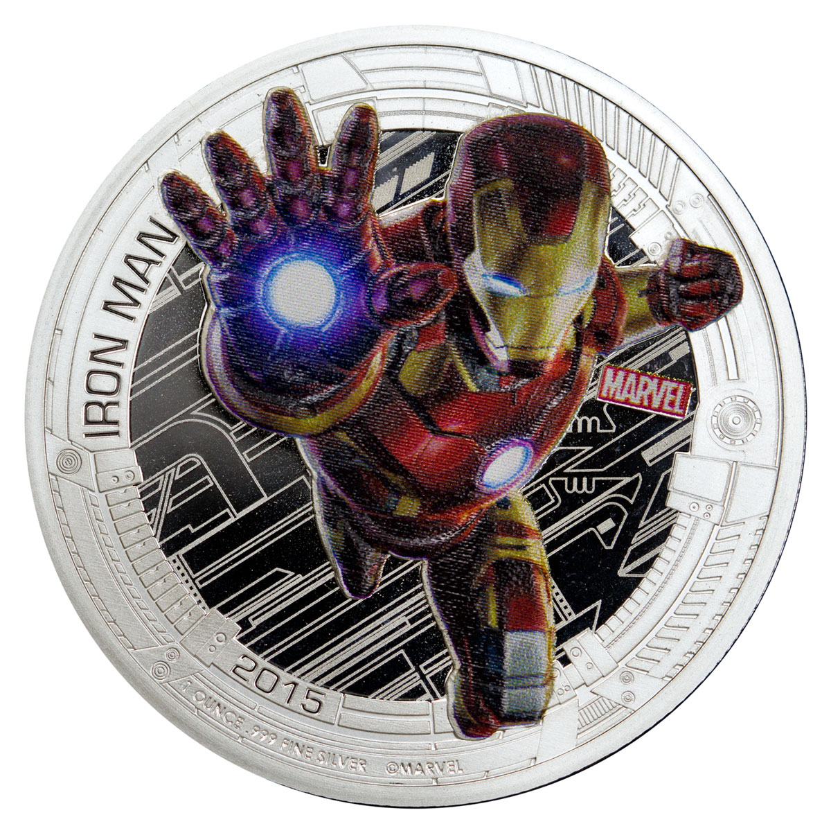 NCLT Coins Featuring Robert Downey, Jr. as Iron Man