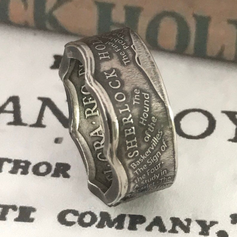 Wear a 2019 Sherlock Holmes 50 Pence Coin as a Ring