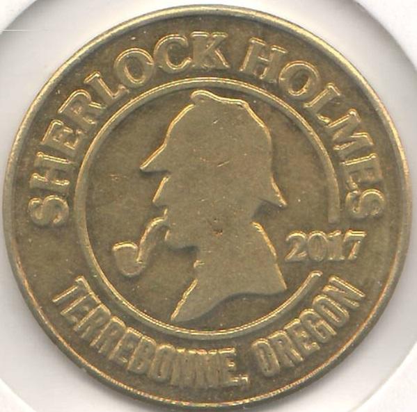 The 2017 Smith Rock Ranch Sherlock Holmes Maze Token