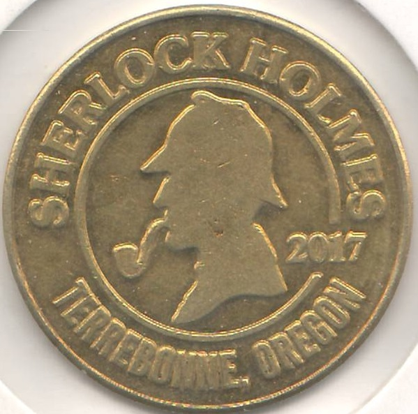 The 2017 Smith Rock Ranch Sherlock Holmes Maze Token
