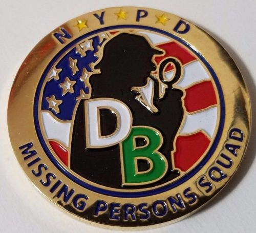 A Third Challenge Coin from NYPD's Missing Persons Squad
