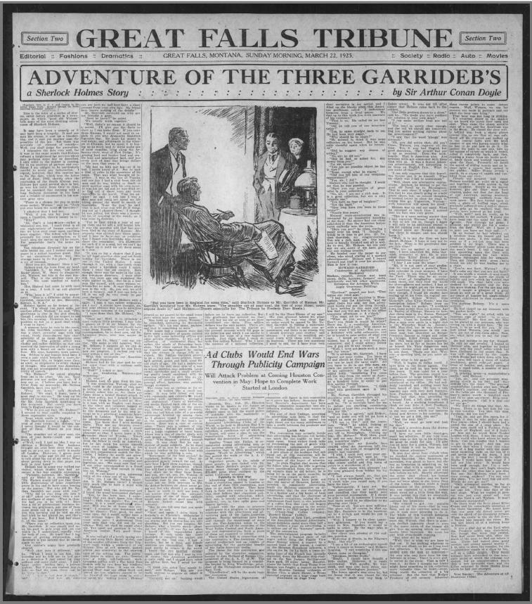 Great Falls (MT) Tribune Published 3GAR on March 22, 1925