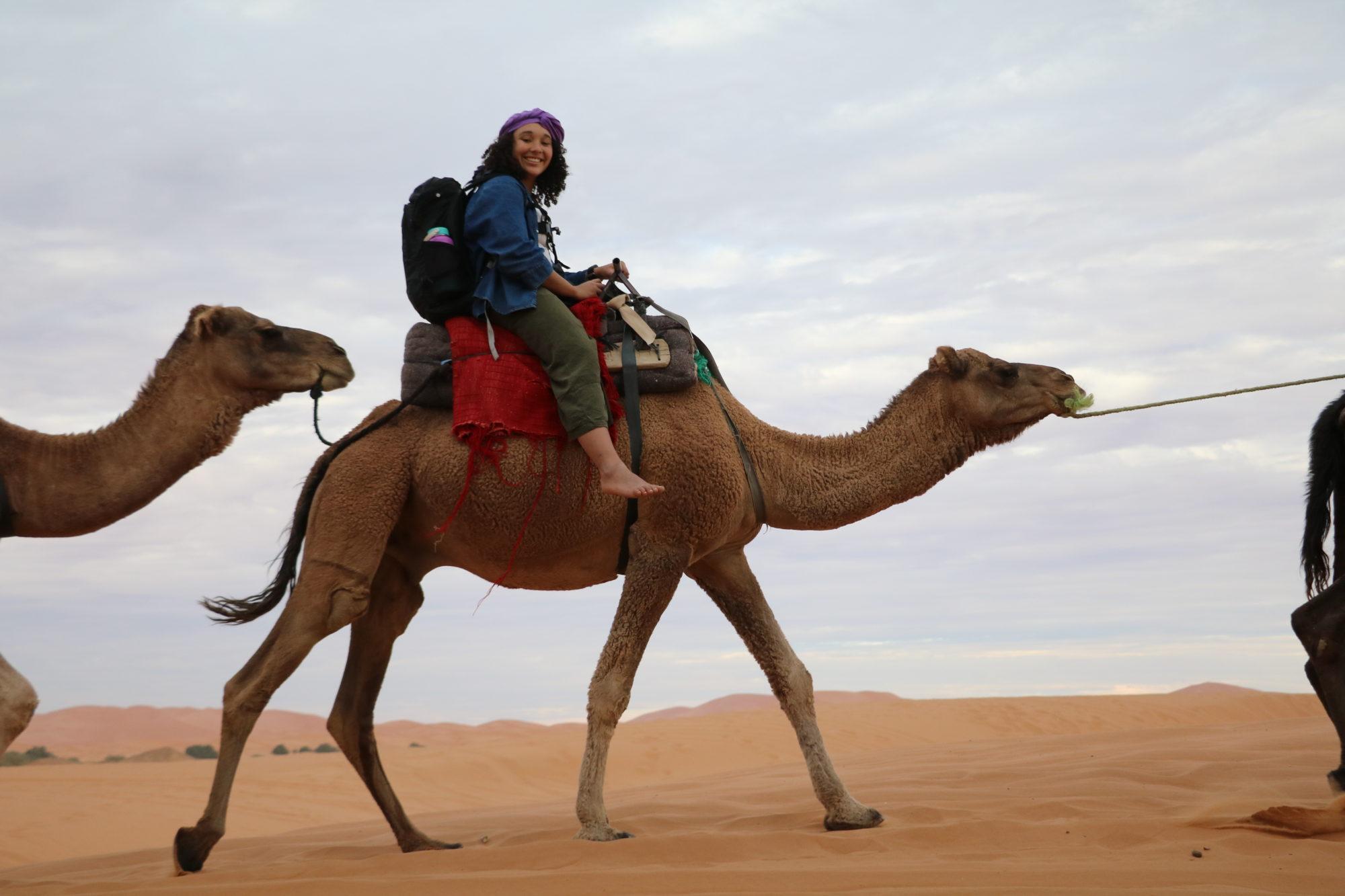 Photo of Alyssa on Camel