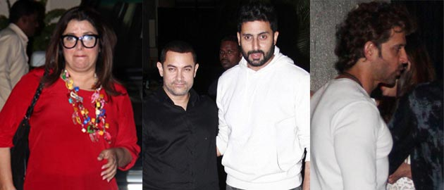 Bollywood celebs at Bachchan's party