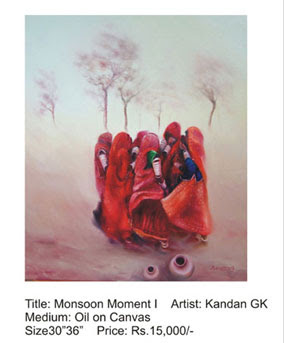 The 'monsoon moment' painting by Kandan GK