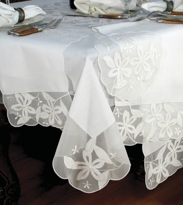 White tablecloth from Intrepid