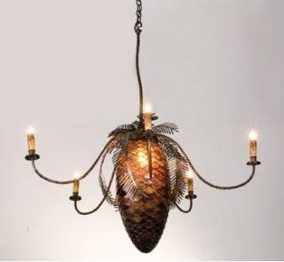 Pine Cone Chandelier – Self explanatory!