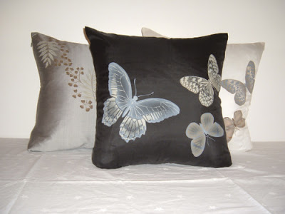 The Fern and the Butterfly pillow collection from Siw Thai Silk