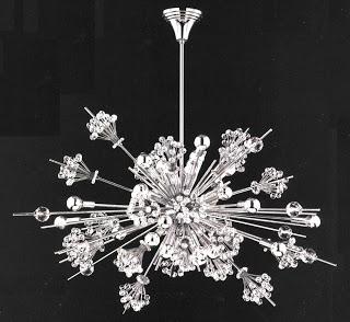 Crystal star chandelier – inspired by star burst