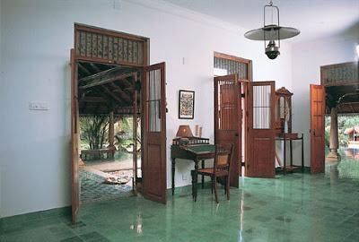 Entrance area of Vishram beach house