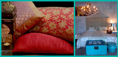 Pillows and bed make-up from Good Earth, New Delhi