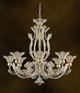 Rivendell crystal chandelier – inspired by leaves, vines and buds