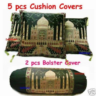Taj Mahal Silk Knitted Cushion and Bolster Covers from eBay online store