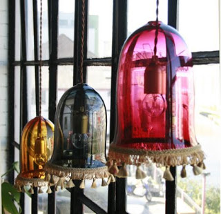 Tassel lights inspired by Victorian decadence