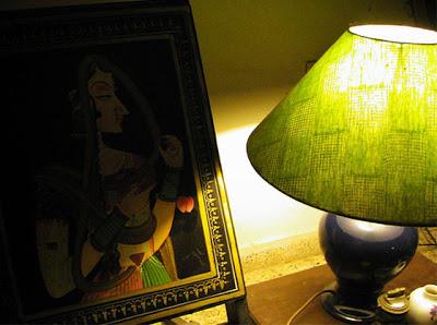 Lamp is brighten up the corner of the room