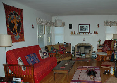 the living room decorated in an indian style
