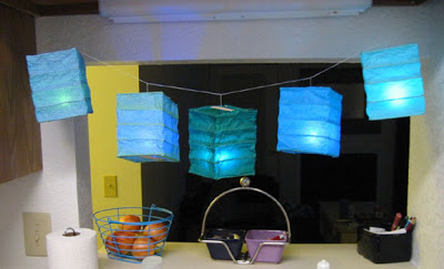 the beautiful handmade paper lanterns by Sarah of Infused Goods