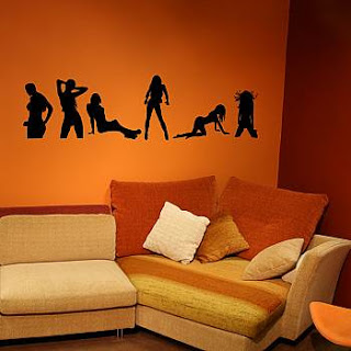 wall art decal decoration on living room