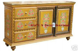 an antique decor of handpainted cabinet