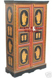 an antique decor of hand painted furniture