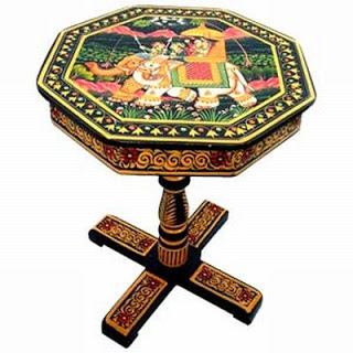 Wooden Hand Painted Table from Crafts in India an online store that retails handcrafted furniture