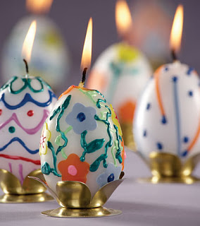 egg shaped candles decor for christmas
