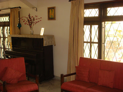 The Indian style sofa set at the living area
