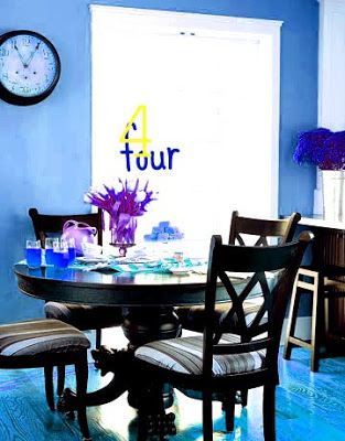 Four chairs at dining table