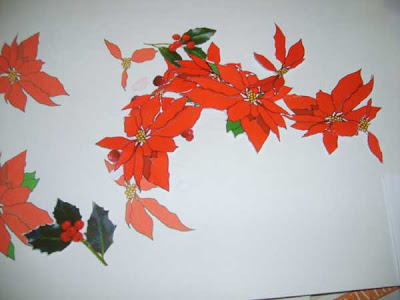 download and print the poinsettia templates