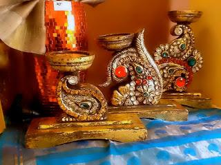 gorgeous votives with kundan uploaded by Sujatha Giri