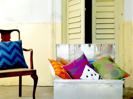 a collection of textiles hand-embroidery, linen and accessories