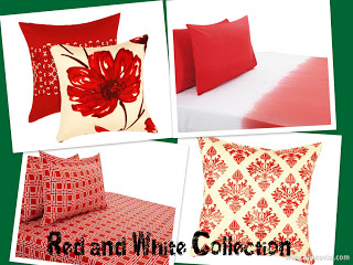 red and white cotton cushion collection from Zansaar