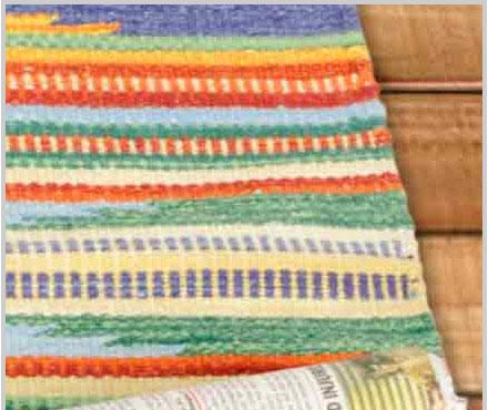 Multicolor Handloom cotton rug