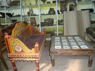 Colorful seating, Antiques Fort Kochi