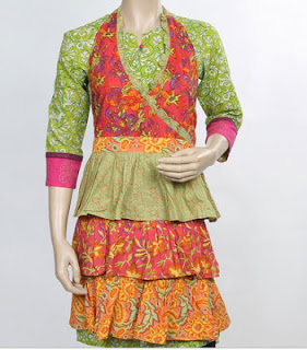 Designer Apron With Three Frills from Pepperfry.com online shopping