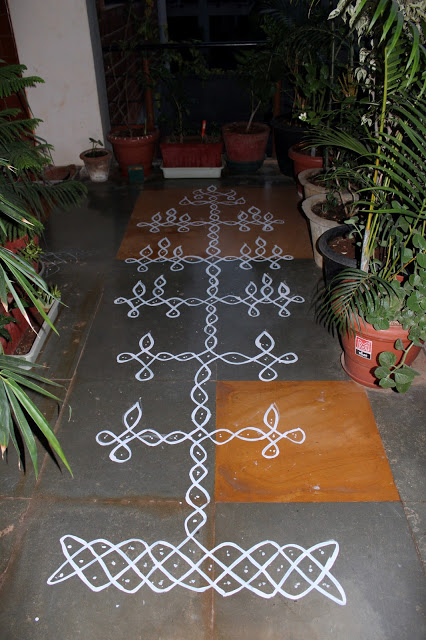 rangoli on the floor
