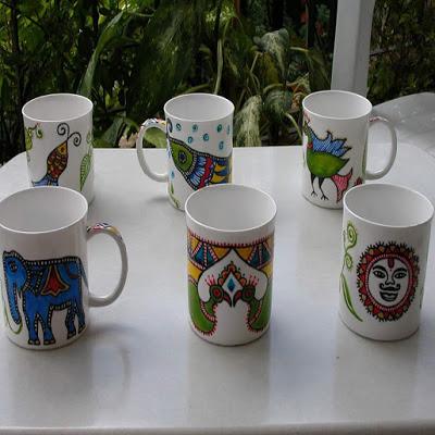 handpainted on ceramic