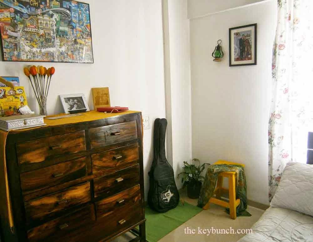 stool in bedroom