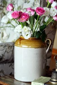 barni with fresh flower