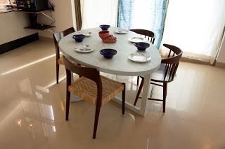 dining table eggshaped