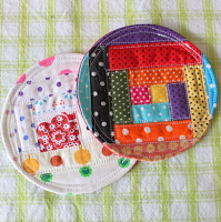 patchwork coasters handmade by runa