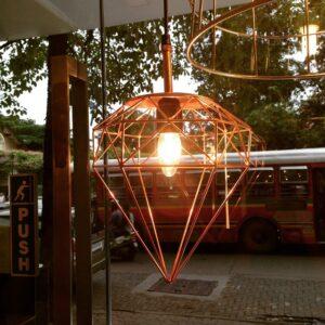 Handmade India geometric lampshade