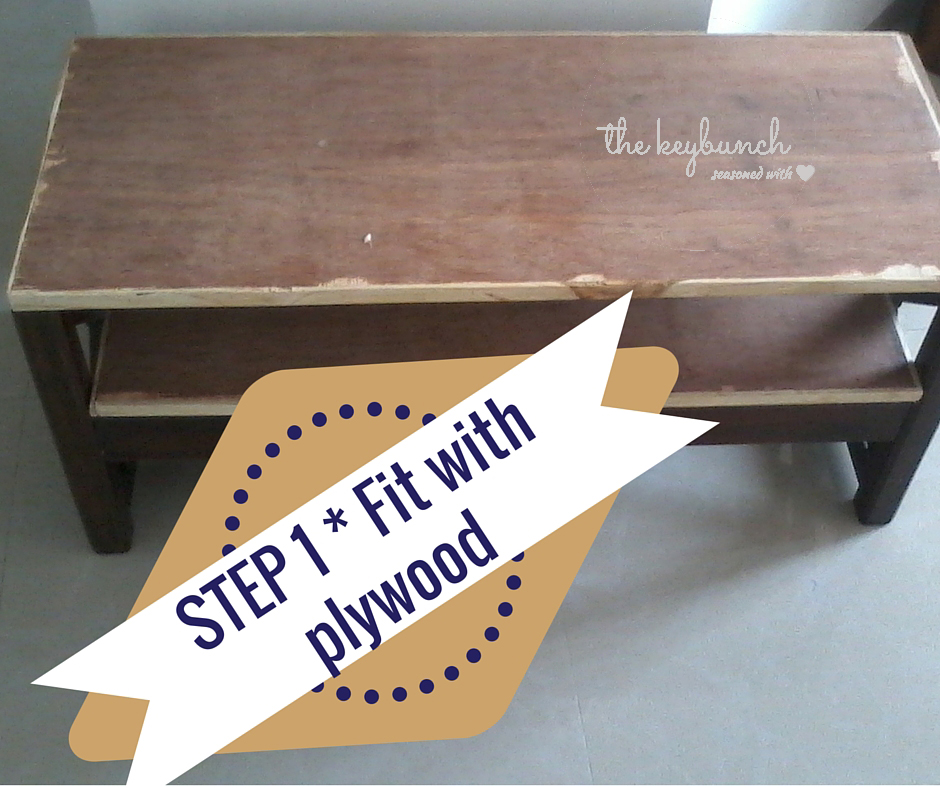 step 1 - table fit with plywood