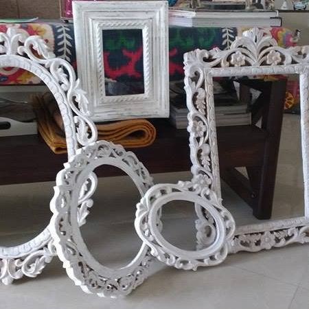 the wooden decorative frames