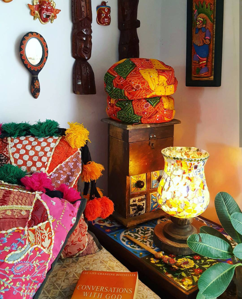 Handcrafted decor in Reshma Babulal's Tiny-size Bengaluru home