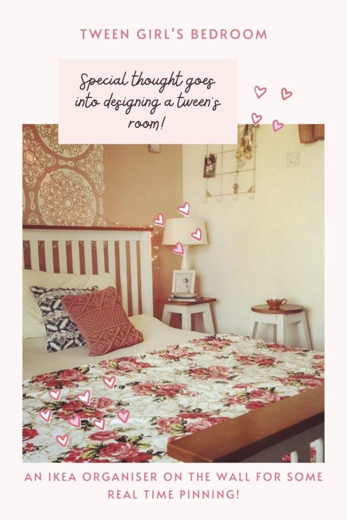 Well organised tween girl bedroom